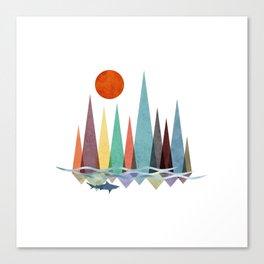 Mountains over the sea Canvas Print