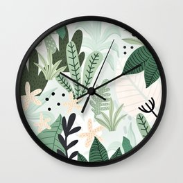 Into the jungle II Wall Clock