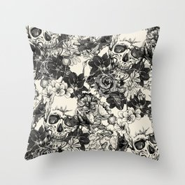 SKULLS 4 HALLOWEEN SKULL Throw Pillow