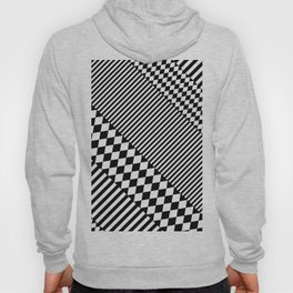 Stylish Black White Geometric Patterns Monochrome Hoody