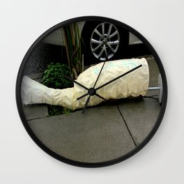 A Shade-y Situation Wall Clock