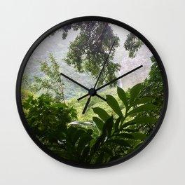 Molokai Waterfalls Wall Clock