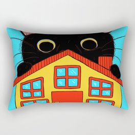Who Lives There? Rectangular Pillow