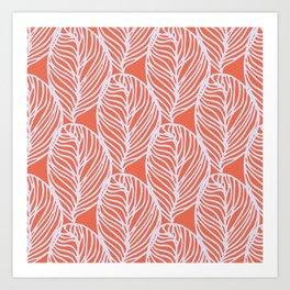 petaluma: orange leaf pattern Art Print