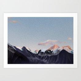 Mt. Everest seen from Gokyo Ri, 17,575 ft • Nepal trekking series Art Print
