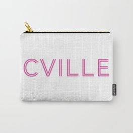 Charlottesville (Cville) in Pink Carry-All Pouch