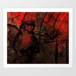 the vanished Art Print