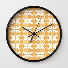 Oh, deer! in tangerine orange Wall Clock
