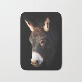 Donkey Black Background Bath Mat