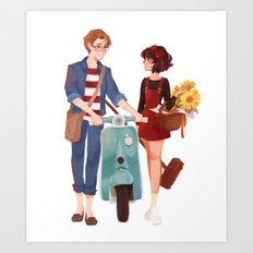 Kiki and Tombo Art Print