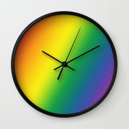 Gay Pride Gradient Wall Clock