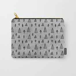 Black abstract tree pattern on concrete  -Mix&Match with Simplicty of life Carry-All Pouch