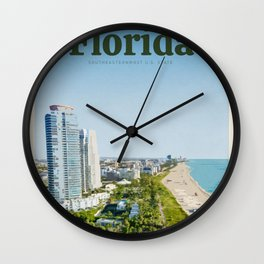 Visit Florida Wall Clock