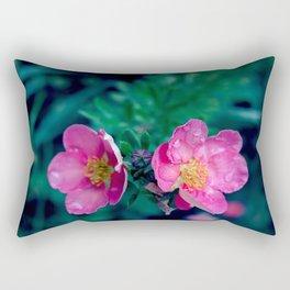 WET PINK BLOSSOMS Rectangular Pillow