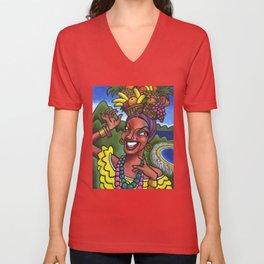 That Girl from Rio (Carmen Miranda) Unisex V-Neck