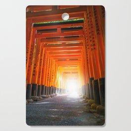 Fushimi Inari Taisha torii, Kyoto, Japan Cutting Board