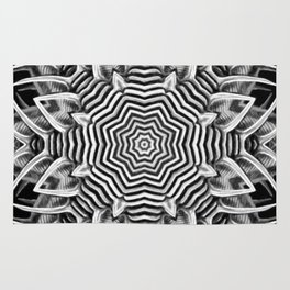 Black-and-White Abstract 23 Rug