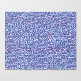 Cool blue abstract thread design Canvas Print