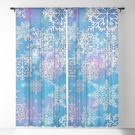 Snowflakes Sheer Curtain