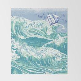 Sea Fever Throw Blanket