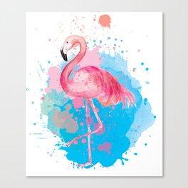 Watercolor Flamingo Canvas Print