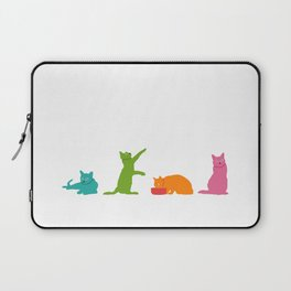 Cats Multicolor Laptop Sleeve