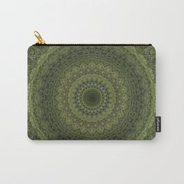 Green mandala with hern ornaments. Carry-All Pouch