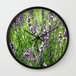 Lavender Plant Wall Clock