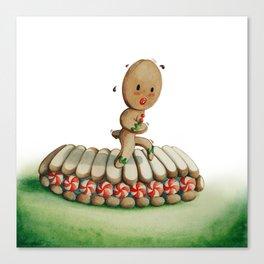 Running Biscuit Canvas Print