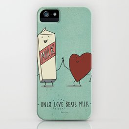only love beats milk iPhone Case