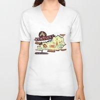 kentucky V-neck T-shirts featuring Kentucky by Christiane Engel