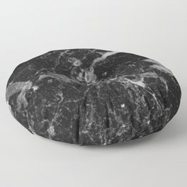 Black and Gray Marble Pattern Floor Pillow