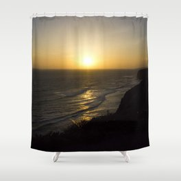 Cliff Top Sunset Shower Curtain