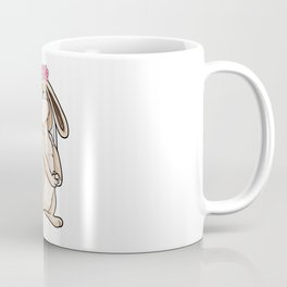Bunny as bride with veil and flowers Coffee Mug