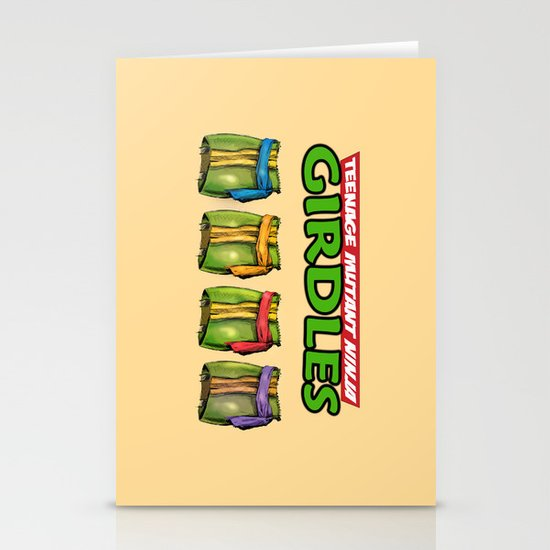 Teenage Mutant Ninja Girdles Stationery Cards