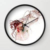 gun Wall Clocks featuring gun by echo3005