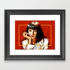 Mia Thurman Framed Art Print