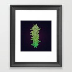 Green Monolith Framed Art Print
