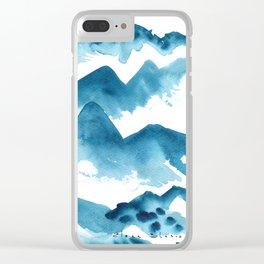 Mountain blue Clear iPhone Case