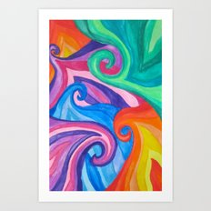 Colorful Swirls Art Print
