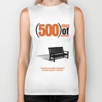 500 days of summer Biker Tanks featuring 500 Days Of Summer by FunnyFaceArt