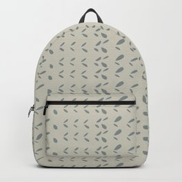 Modern abstract gray ivory hand painted brushstrokes pattern Backpack