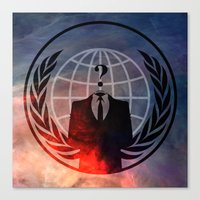 anonymous Canvas Prints featuring Anonymous by Sney1