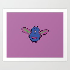Cute Monster Art Print