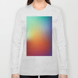 color gradient rainbow colors - abstract background Long Sleeve T-shirt