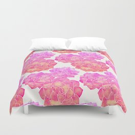 Rosette Succulents – Pink Palette Duvet Cover