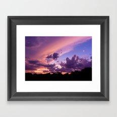candy skys. Framed Art Print