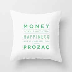 Prozac Nation Throw Pillow
