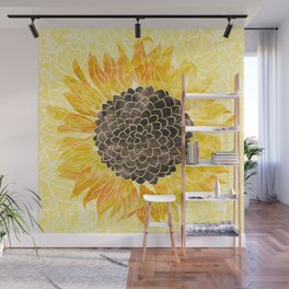 Sunflower Yellow Wall Mural