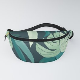 Tropical Leaves Fanny Pack